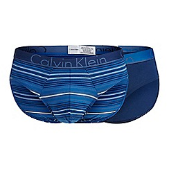 Calvin Klein - 2 pack blue printed briefs