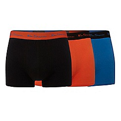 Ben Sherman - Pack of three multicoloured trunks