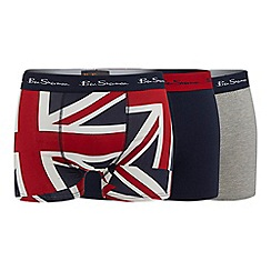 Ben Sherman - Pack of three navy trunks