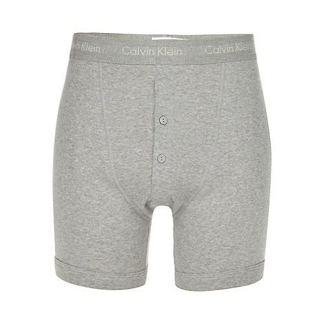 Calvin Klein Underwear - Grey button boxer shorts