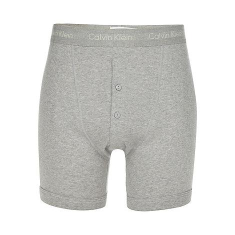 Calvin Klein - Grey button boxer shorts