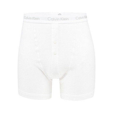 Calvin Klein - White button boxers shorts