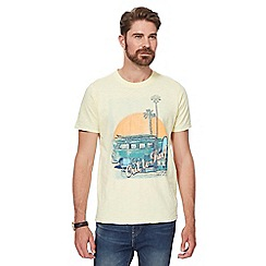 Mantaray - Yellow camper van print crew neck t-shirt