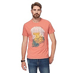 Mantaray - Peach mountain bike print t-shirt