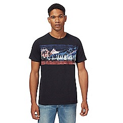 Mantaray - Big and tall navy mountain print t-shirt