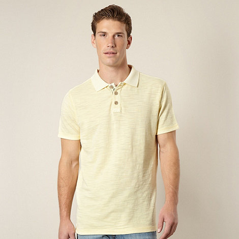Mantaray - Light yellow pique polo shirt