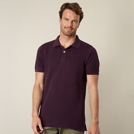 Mantaray - Purple heavy pique polo shirt