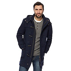 Mantaray - Big and tall navy duffle coat