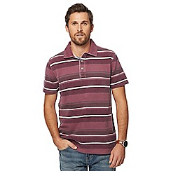 Mantaray - Big and tall dark red pique polo shirt