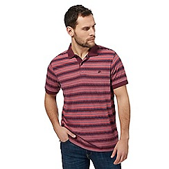 Mantaray - Big and tall pink stripe print polo shirt
