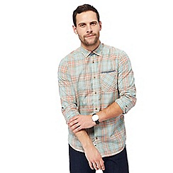 Mantaray - Light blue tartan checked shirt