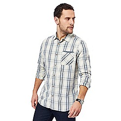 Mantaray - Big and tall off-white checked shirt