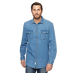 Mantaray - Big and tall blue denim shirt