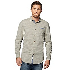 Mantaray - Big and tall khaki textured shirt