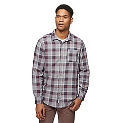 Mantaray - Big and tall grey brushed check shirt