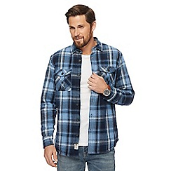 Mantaray - Blue checked shirt jacket