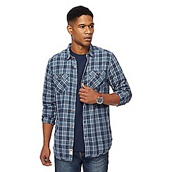 Mantaray - Big and tall navy checked shirt