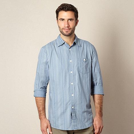 Mantaray - Blue rope striped shirt