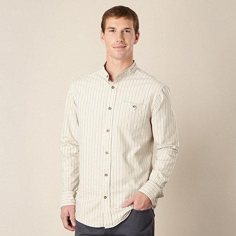 Mantaray - Beige striped oxford shirt