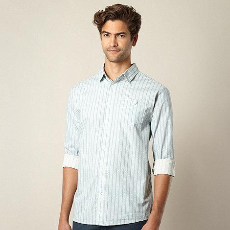 Mantaray - Light blue diamond striped shirt