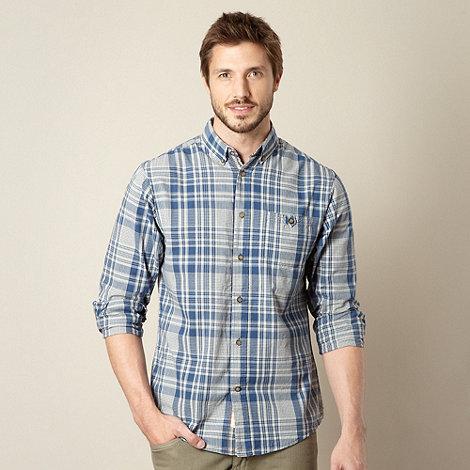Mantaray - Blue checked long sleeve shirt