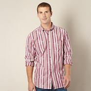 Dark rose stripe pattern shirt
