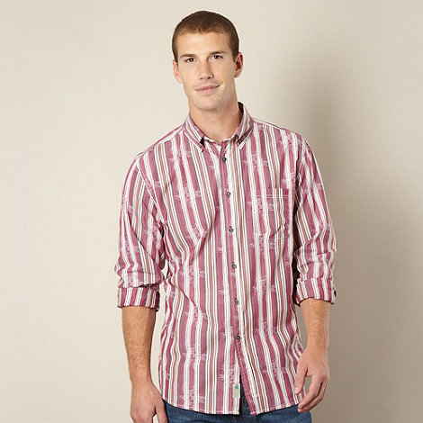 Mantaray - Dark rose stripe pattern shirt