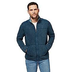 Mantaray - Big and tall turquoise pique zip through jacket