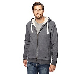 Mantaray - Big and tall grey borg lined zip through hoodie