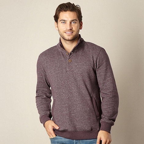 Mantaray - Plum button neck sweat top