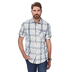 Mantaray - Big and tall blue mid checked short sleeved shirt