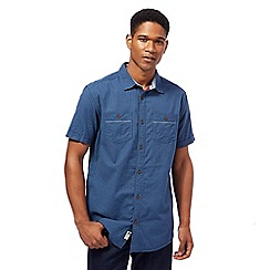 Mantaray - Navy textured basketweave shirt
