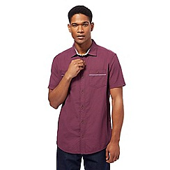 Mantaray - Big and tall purple textured basketweave shirt