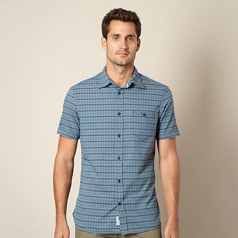Mantaray - Blue woven checked shirt