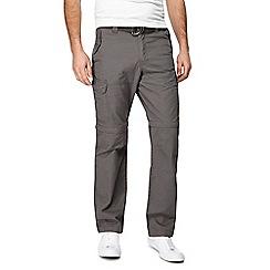 Mantaray - Dark grey zip off leg cargo trousers