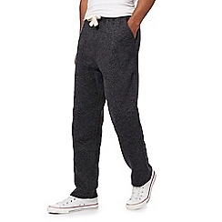 Mantaray - Big and tall dark grey knit-look jogging bottoms