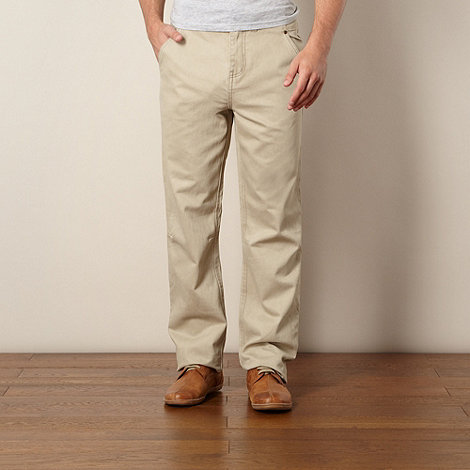 Mantaray - Taupe straight fit trousers