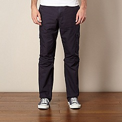 Mantaray - Navy zip off panel cargo trousers