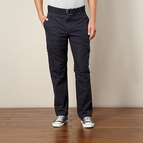 Mantaray - Navy panelled cargo trousers