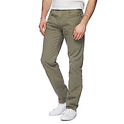 Mantaray - Big and tall khaki straight leg jeans