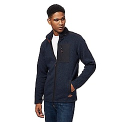 Mantaray - Big and tall navy zip through sweater