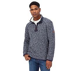 Mantaray - Navy waffle sweater