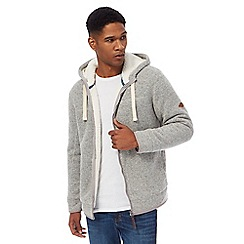 Mantaray - Big and tall natural textured zip through hoodie