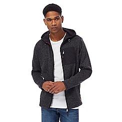 Mantaray - Blue knitted fleece lined zip through hoodie