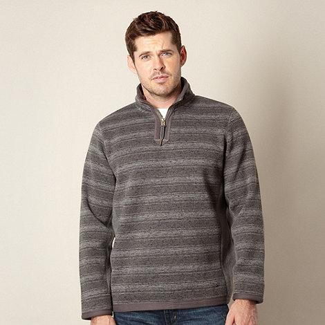 Mantaray - Grey zip neck jumper