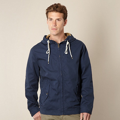 Mantaray - Navy lightweight hooded jacket