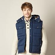 Big and tall navy quilted gilet