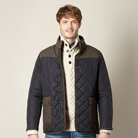 Mantaray - Navy quilted panel jacket