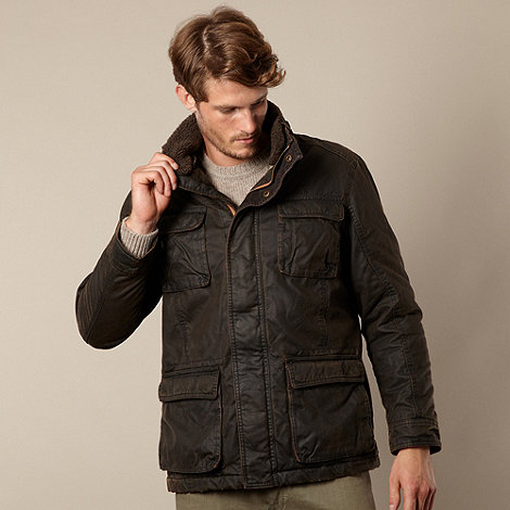 Mantaray - Dark brown four pocket jacket