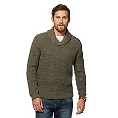 Mantaray - Green knitted shawl neck jumper